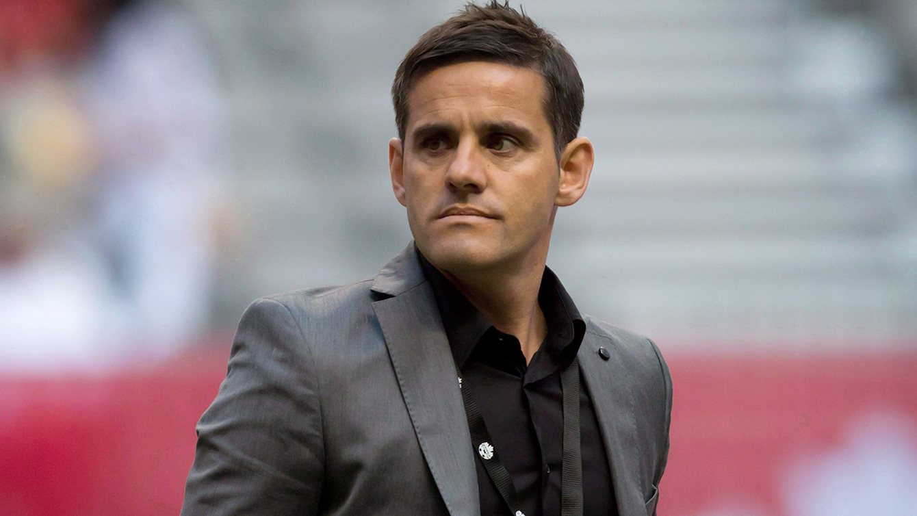 John Herdman during a Canada-Germany match on June 18, 2014 in Vancouver, BC.