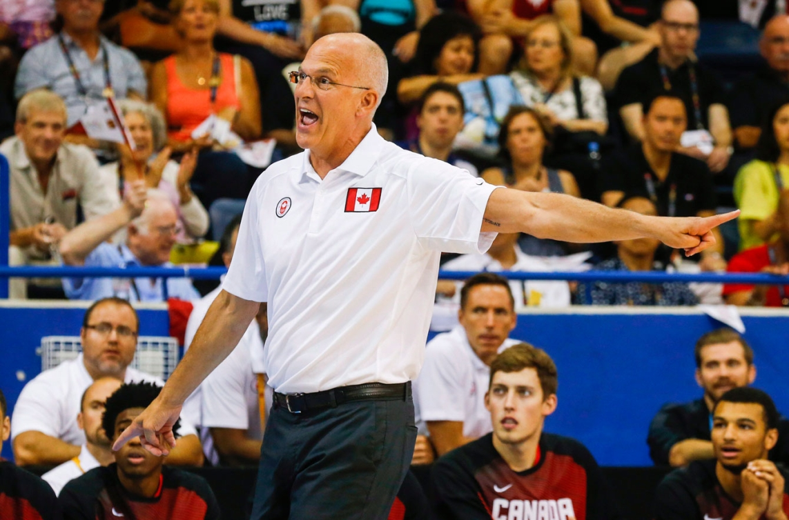 Head coach Jay Triano did his best to lead Canada's men to the top of the TO2015 basketball podium.