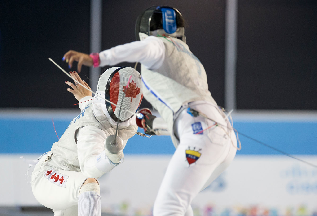 Alanna Goldie won TO2015 bronze in the women's individual foil on July 22.