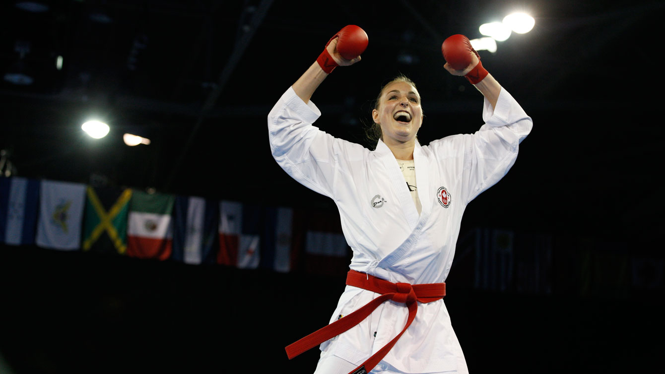 Camélie Boisvenue won TO2015 silver in the women's +68kg weight class on Day 15.