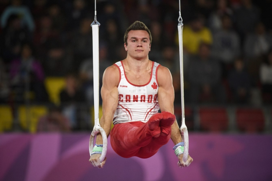 René Cournoyer during the rings event