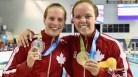 Kierra Smith (right) gold medallist and Martha McCabe (left) silver medallist in the women's 200m breaststroke.