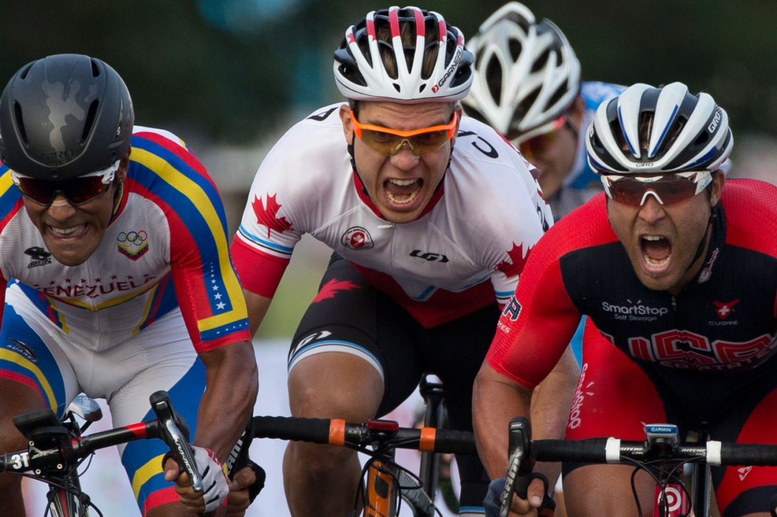 Guillaume Boivin rode to TO2015 bronze in the men's road race on Day 15.