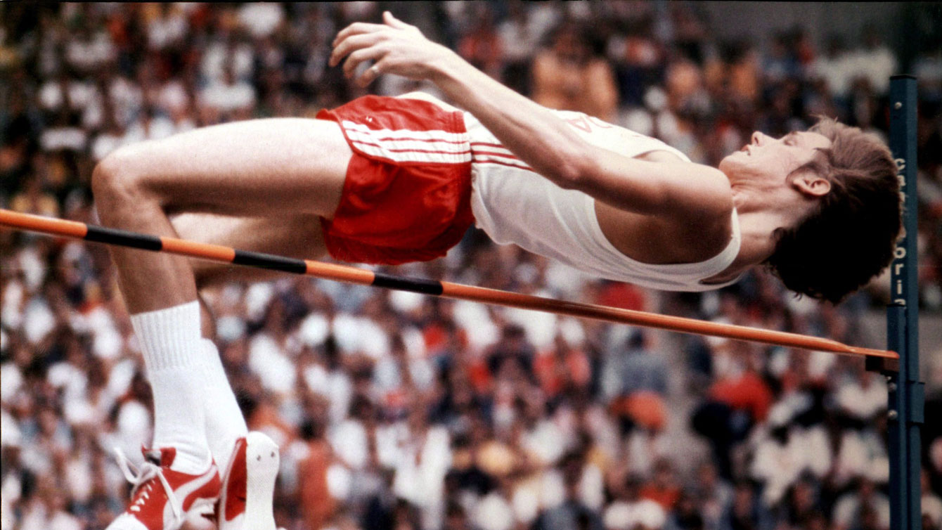 Greg Joy clears the bar on July 31, 1976, en route to an Olympic silver medal.