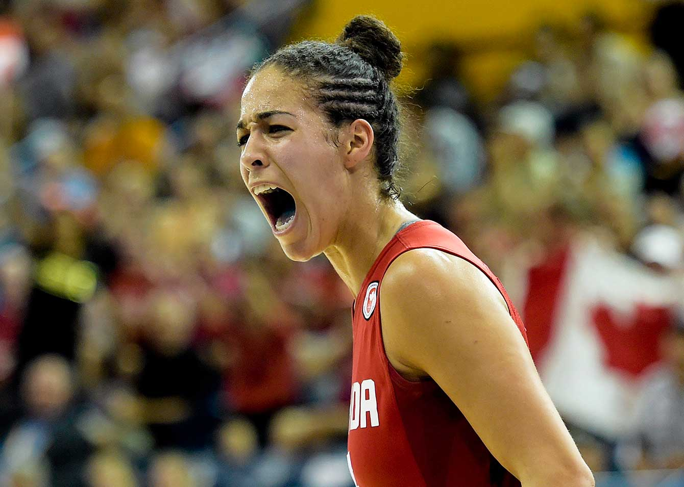 Kia Nurse during the second half of the gold medal game versus the USA on Monday, July 20, 2015. Canada won gold.