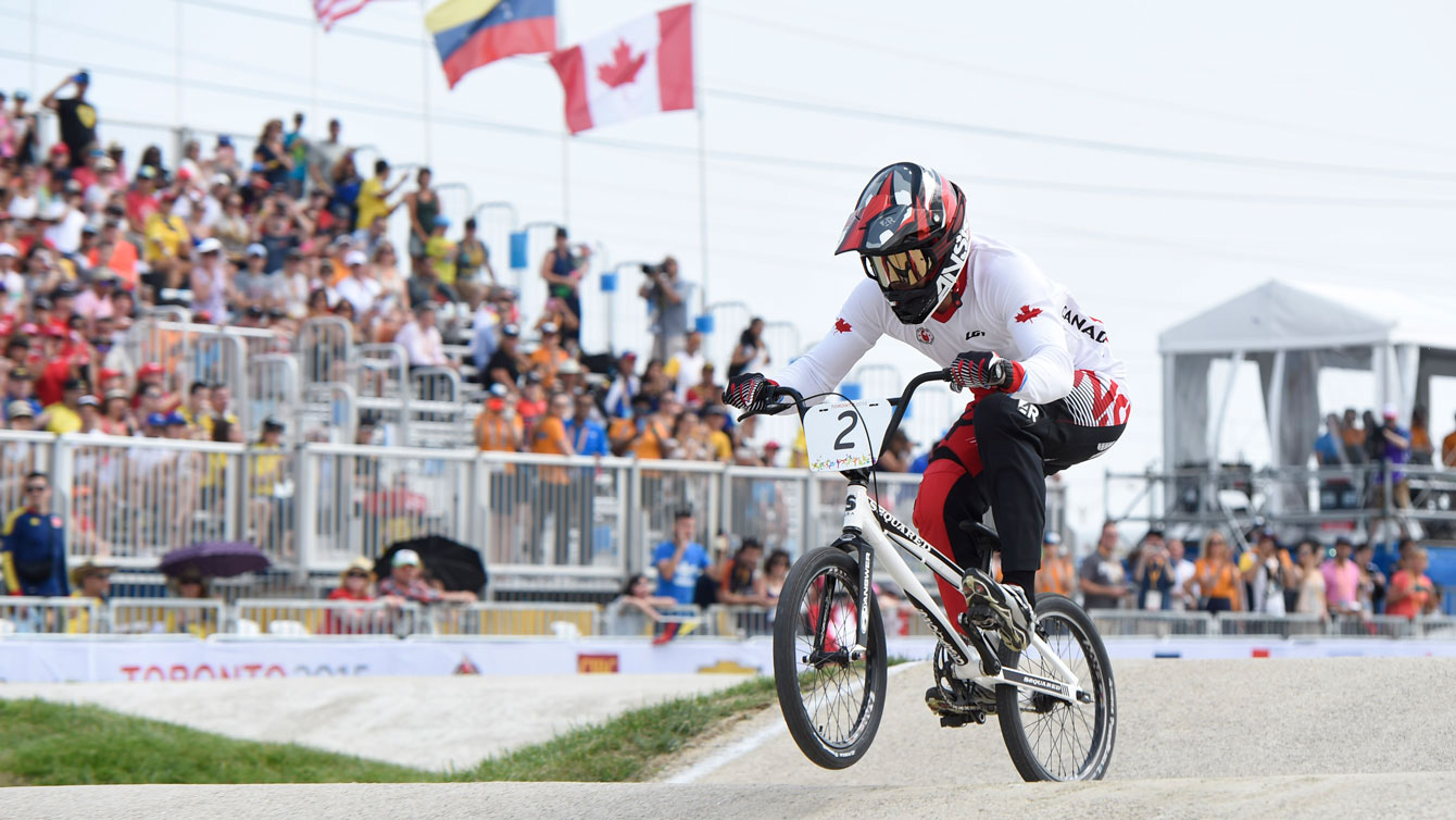 Tory Nyhaug cruised his way to gold in men's BMX. (Photo: Jason Ransom)