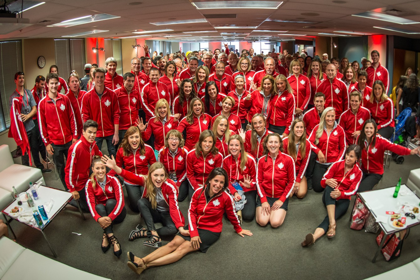 Several generations of Olympians gathered in Montreal for Canada Olympic Excellence Day on July 9, 2015.