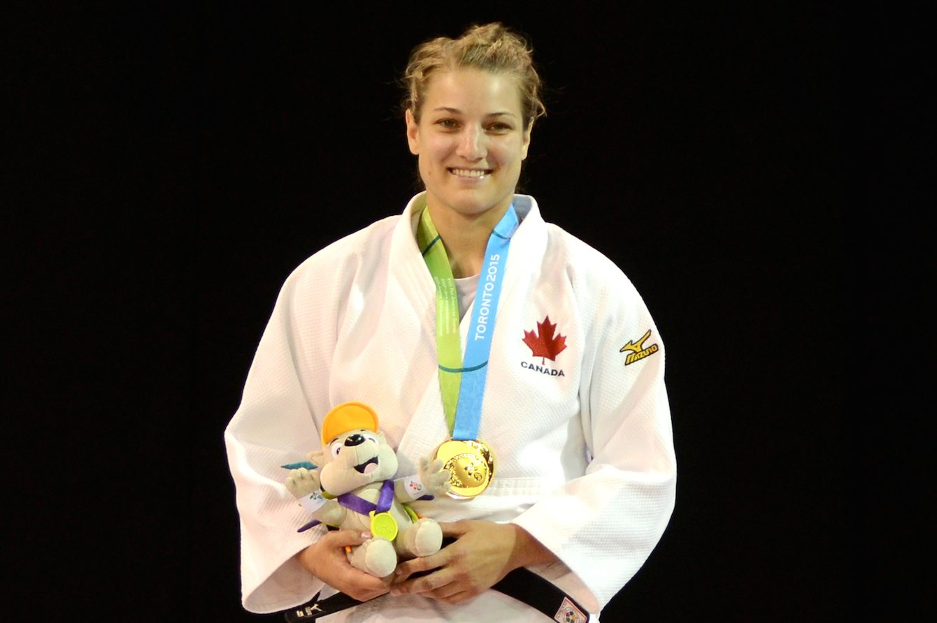 Kelita Zupancic beat the defending women's 70kg Pan Am Games champion Onix Cortes of Cuba to give Team Canada its first judo gold medal of Toronto 2015.