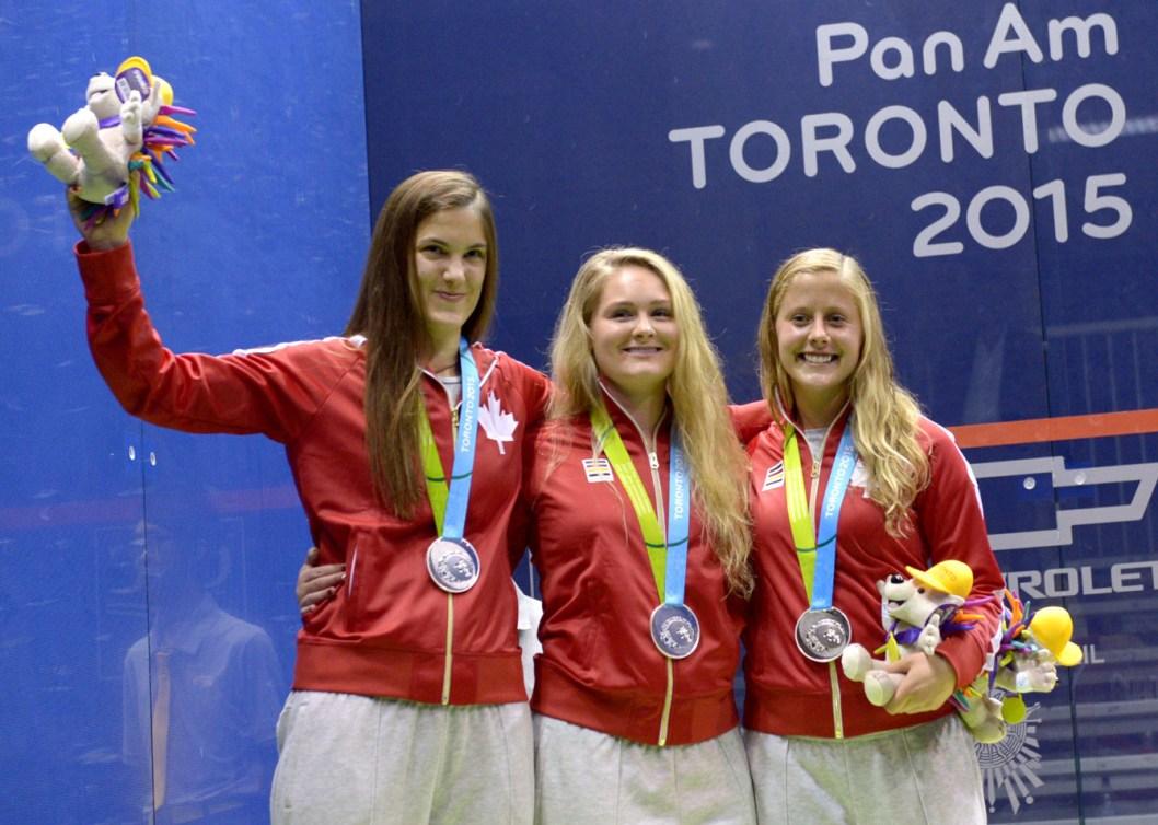 From left to right: Samantha Cornett, Hollie Naughton, Nikole Todd. (Photo: Winston Chow)