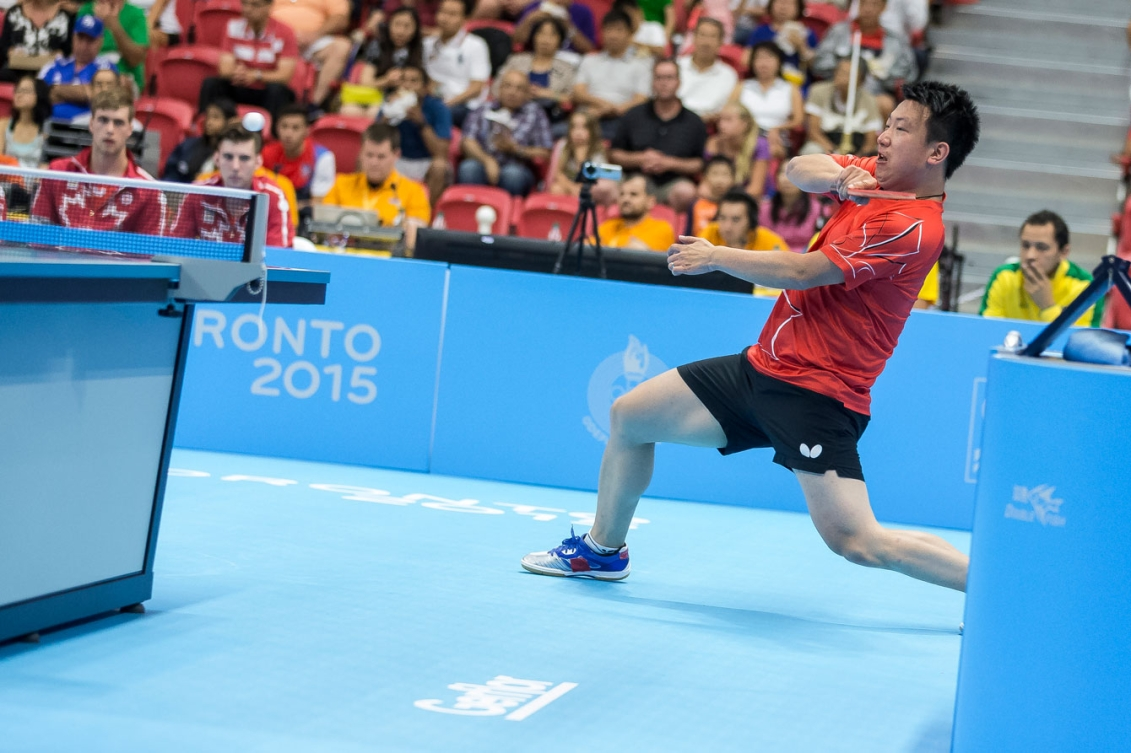 Eugene Wang won TO2015 table tennis bronze in men's singles on Day 15.
