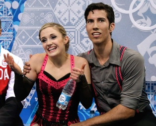 Paige Lawrence and Rudi Swiegers at Sochi 2014.
