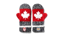 2016 Hudson's Bay Red Mittens (Youth size).