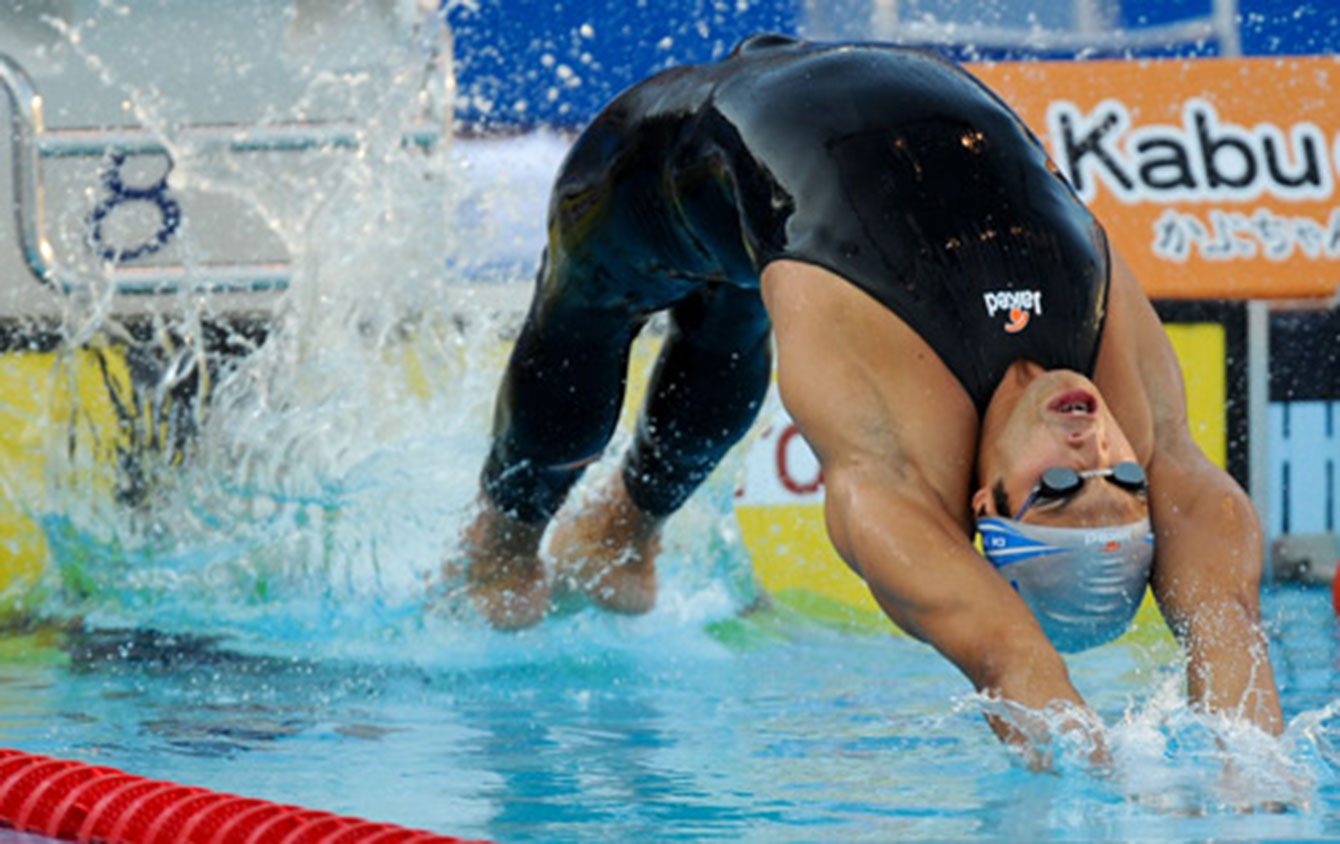 An example of a Jaked full-body suit, eventually banned by FINA.