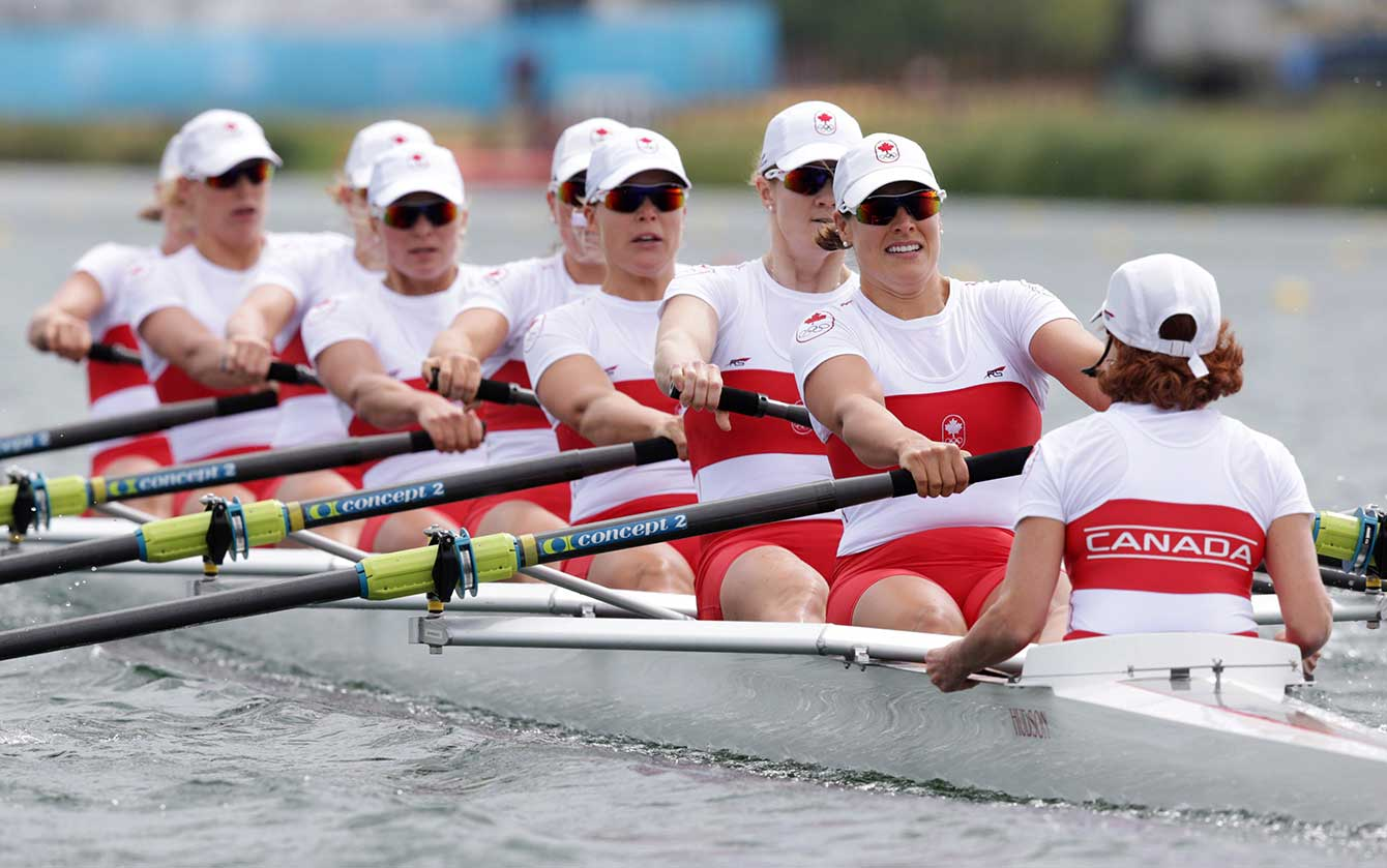 The Canadian Women's Rowing eight at London 2012 apparently used a Hudson racing shell.