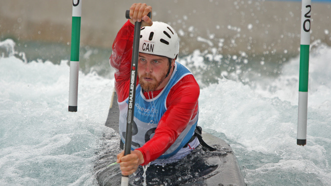 Cameron Smedley at the Olympic whitewater stadium in Rio de Janeiro on November 29, 2015. Smedley finished second at the Rio 2016 test event.