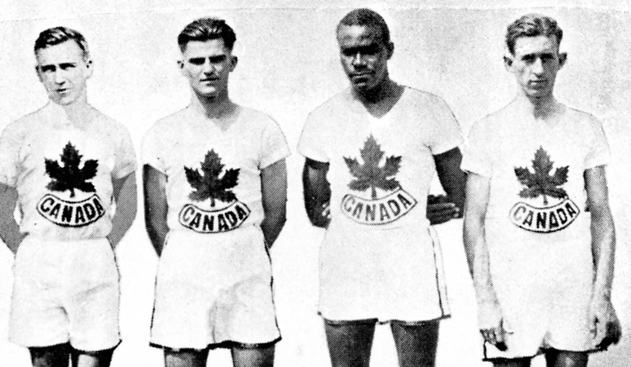 Canada's men's relay team participates at the 1928 Amsterdam Olympics. (CP Photo/COC) L'équipe du relais du Canada participe aux Jeux olympiques de Amsterdam de 1928. (PC Photo/AOC)