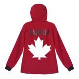 Mens Softshell Maple Leaf Canada Jacket---Back, $125