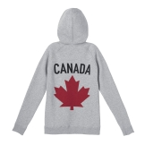 Womens Maple Leaf Hoodie Grey---Back, $95