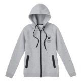 Womens Maple Leaf Hoodie, Grey---Front, $95