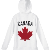 Womens Maple Leaf Hoodie, White---Back, $95