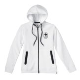 Womens Maple Leaf Hoodie, White---Front, $95