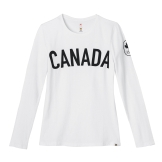 Womens Maple Leaf Long Sleeve T-Shirt---Front, $40