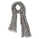 Womens Mosaic Linen Scarf, $45