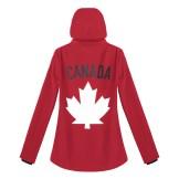 Womens Softshell Maple Leaf Canada Jacket---Back, $125