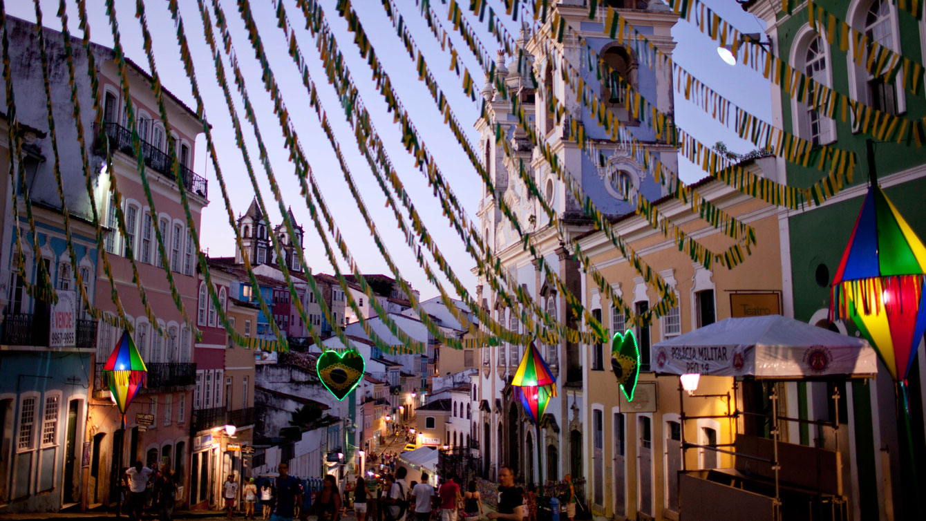 Pelourinho, a historic neighbourhood in Salvador, Brazil