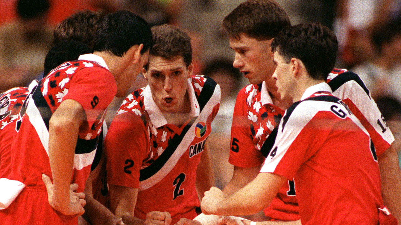 Canada's men's volleyball team competing at Barcelona 1992