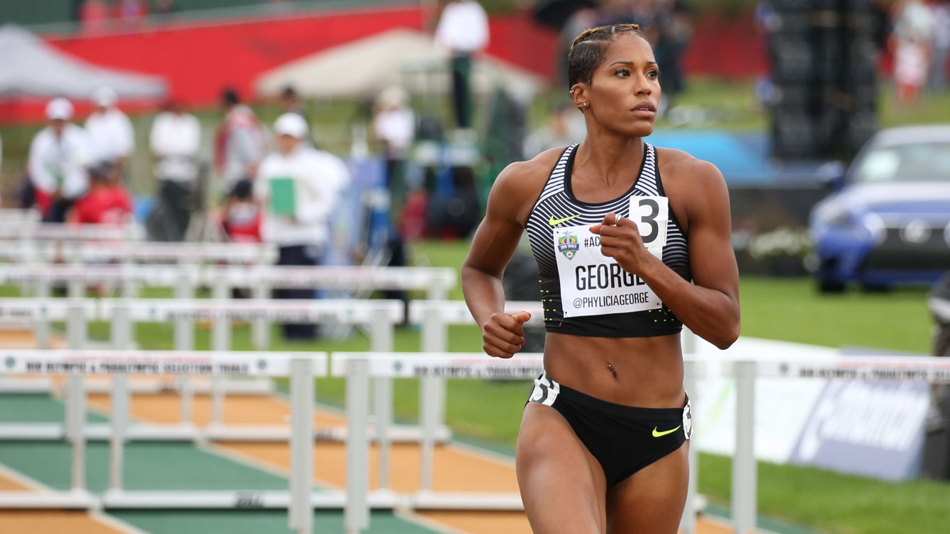Phylicia George at the Olympic trials on July 10, 2016.