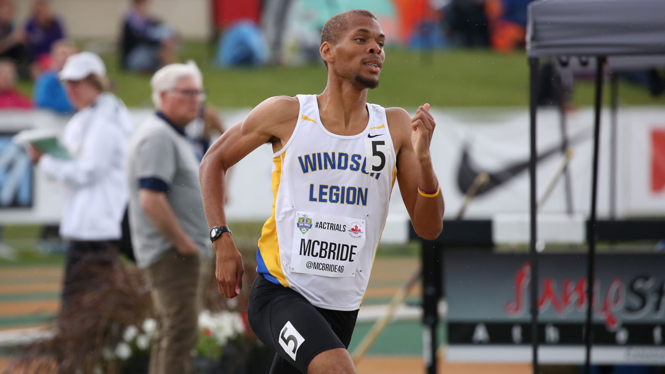 Brandon McBride in the 800m at Olympic trials on July 10, 2016.