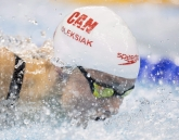 Canada's Penny Oleksiak swims to a silver medal performance in the women's 100-metre butterfly at the 2016 Summer Olympics on Sunday, August 7, 2016 in Rio de Janeiro, Brazil. THE CANADIAN PRESS/Frank Gunn