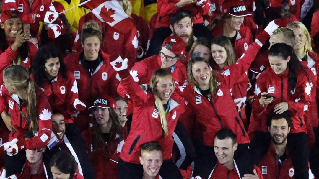 Team Canada at the Rio 2016 closing ceremony on August 21, 2016.