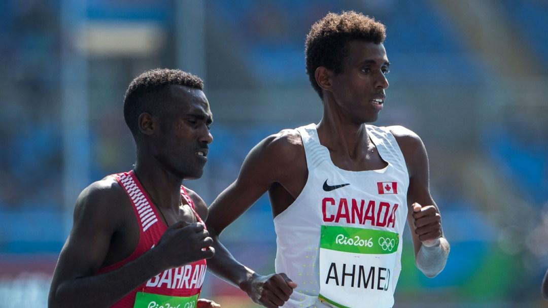 Mo Ahmed running