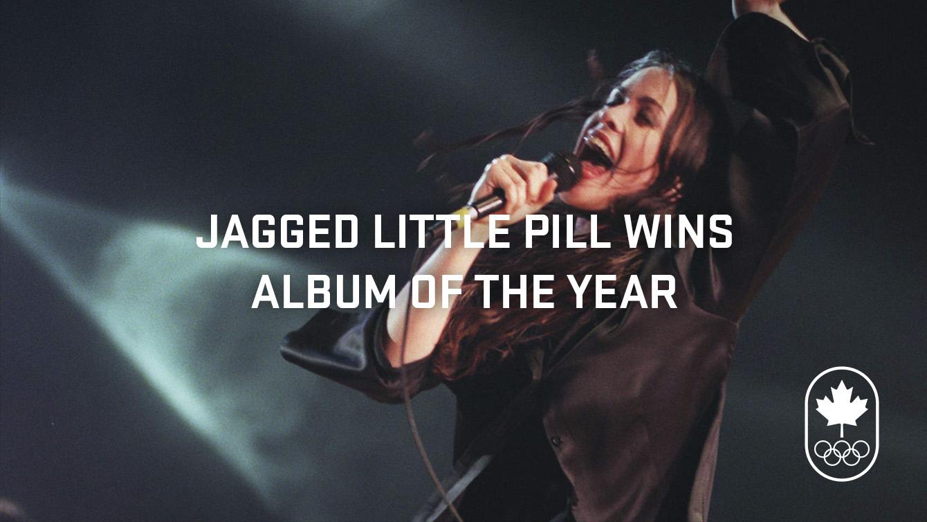Alanis Morissette wins album of the year.