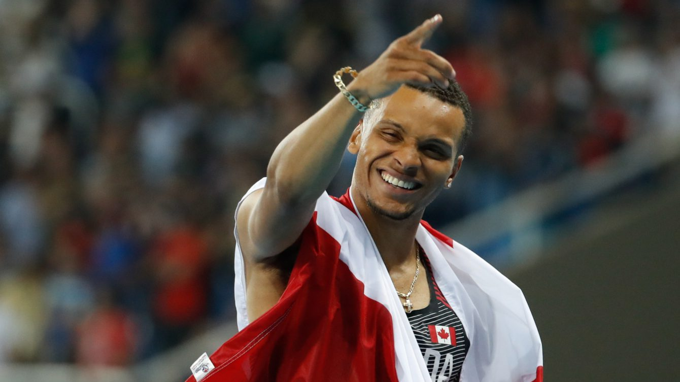 Andre De Grasse, Usain Bolt, Rio 2016, 100m, final, bronze, Olympics, Canada