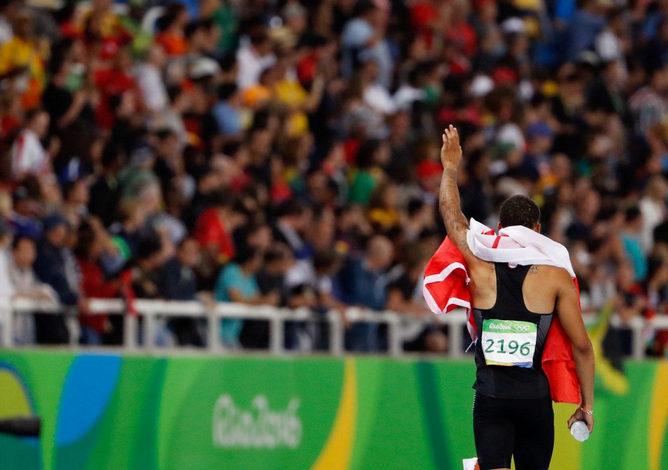 Andre De Grasse, Rio 2016. August 18, 2016. COC Photo/Stephen Hosier