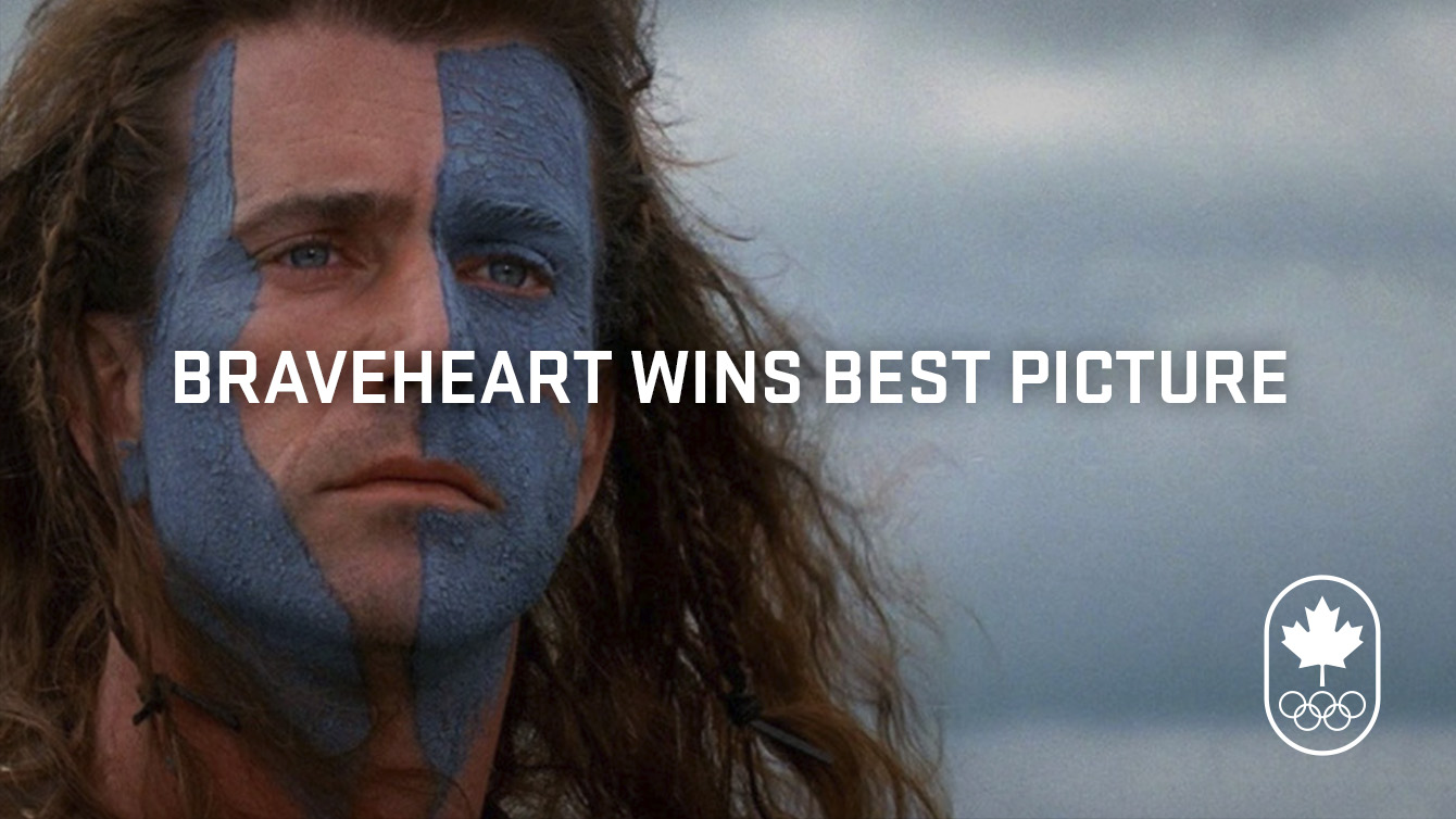 Braveheart wins best picture in 1996.