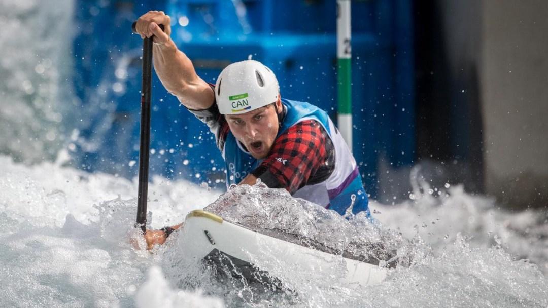 Team Canada's Cameron Smedley races down the course