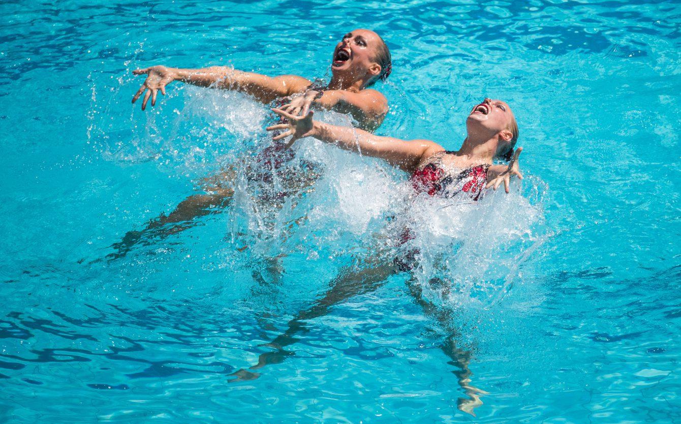 Rio 2016: Synchronized Swimming Rio 2016: Jacqueline Simoneau and Karine Thomas. COC Photo/Mark Blinch