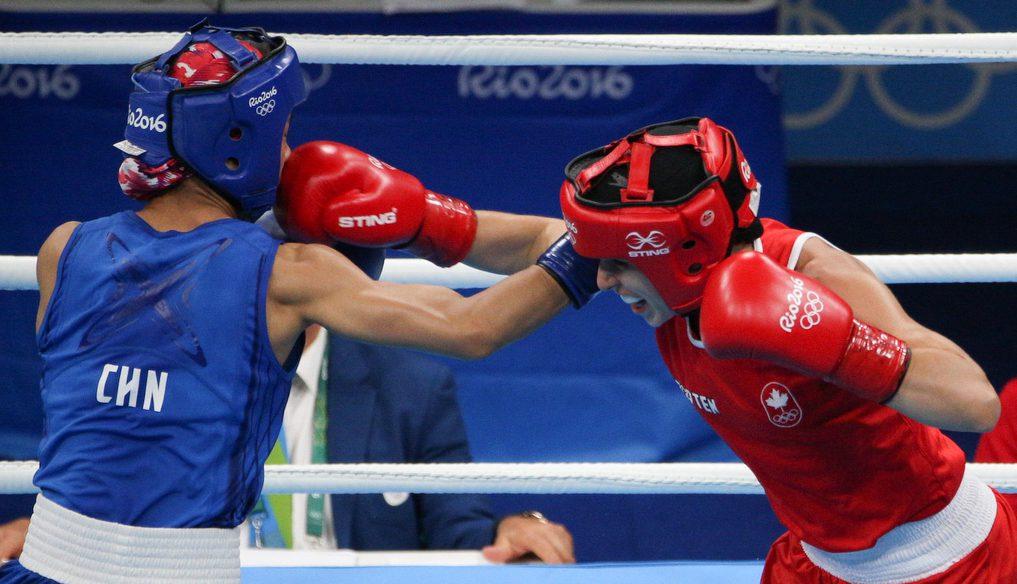 Mandy Bujold lands a punch