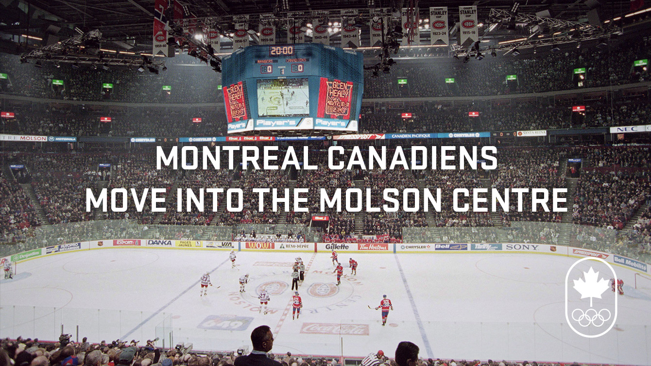 What's up in 1996: Montreal Canadiens move into the Molson Centre