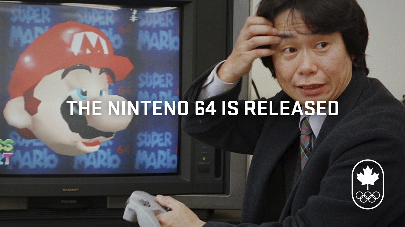 The Nintendo 64 was released in 1996.
