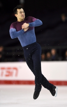 Patrick Chan competes during the Canadian figure skating championships in Ottawa, Ontario, Jan. 21, 2017. (Sean Kilpatrick/The Canadian Press via AP, File)