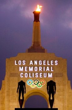 In this Feb. 13, 2008, file photo is the facade of Los Angeles Memorial Coliseum in Los Angeles. (AP Photo/Damian Dovarganes)