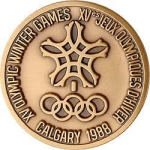 The front of the Calgary 1988 medal (Photo: opmedals.com)