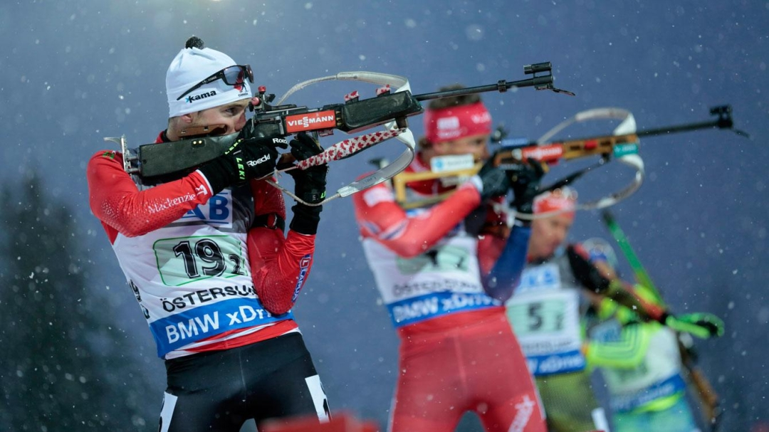 Team Canada - Nathan Smith during single mixed relay at the Biathlon World Cup