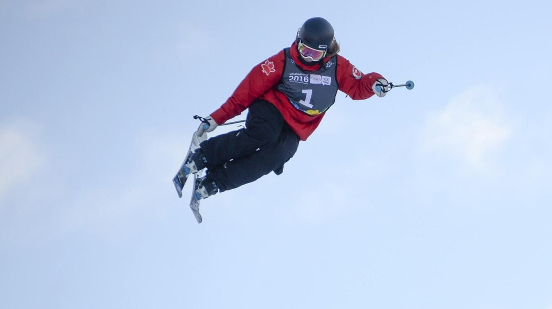 Team Canada - Mackenzie Wilson competes in the Ski Halfpipe Finals
