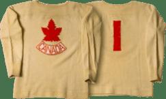 Team Canada Olympic Hockey Jersey 1924. (image found on http://jerseys.hockeycanada.ca)